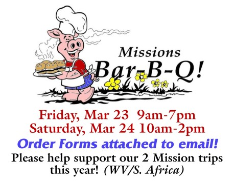 Missions BBQ details 2018 form in email