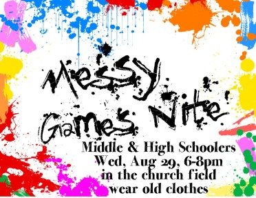 Messy game night youth