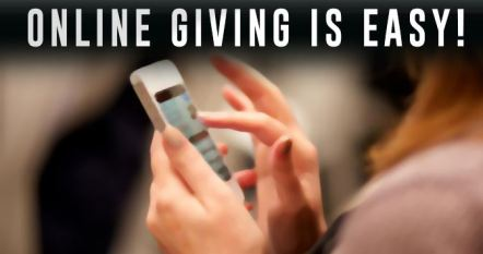 Online Giving is Easy