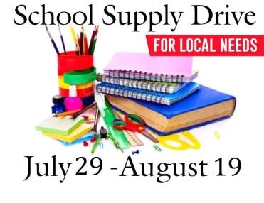 School Supplies 2018 dates only
