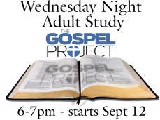 Wednesday Night Bible Study Starts 9-12