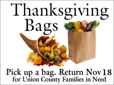 Thanksgiving Bags deadline
