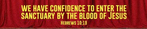 Hebrews 10.19.
