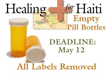 Pill Bottles table sign