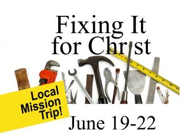 Fixing it for Christ 2019 calendar