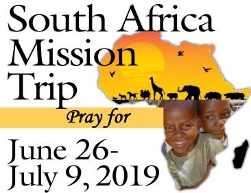 SA Misison 2019 pray for