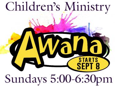 Children's Ministries 2019 Starts Sept 8