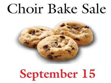 Choir Bake Sale 9-15-19