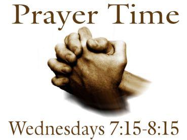 Prayer Time Summer 2019