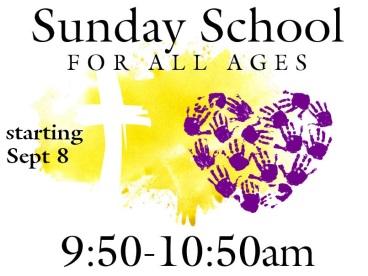 Sunday School 9-8