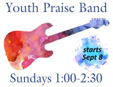 Youth Praise Band starts 9-8
