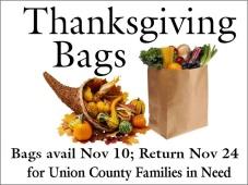 Thanksgiving Bags 2019